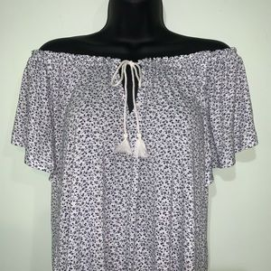 NWT - Women's Chaps Peasant Top